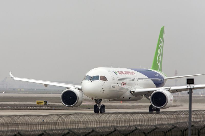 Mẫu C919 'made in China' /// Ảnh: Bloomberg