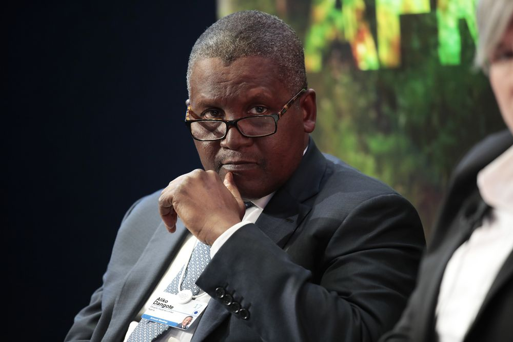 Ông Aliko Dangote /// Ảnh: Bloomberg