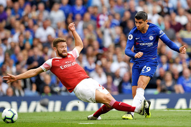Arsenal thất thủ 2-3 trước Chelsea ở trận lượt đi /// AFP
