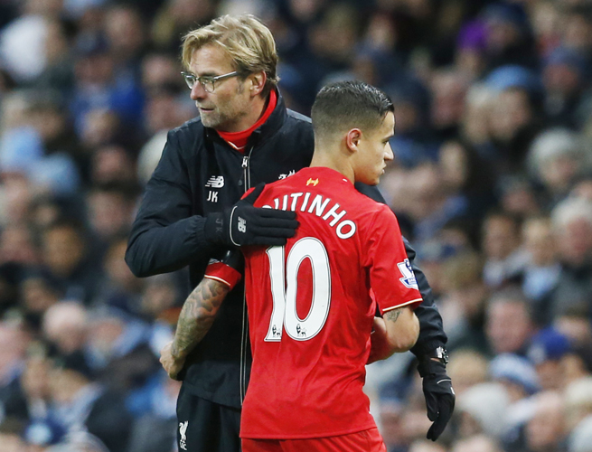 Coutinho gây lo lắng cho Liverpool