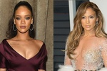 Rihanna và Jennifer Lopez /// Ảnh: AFP/Getty Images
