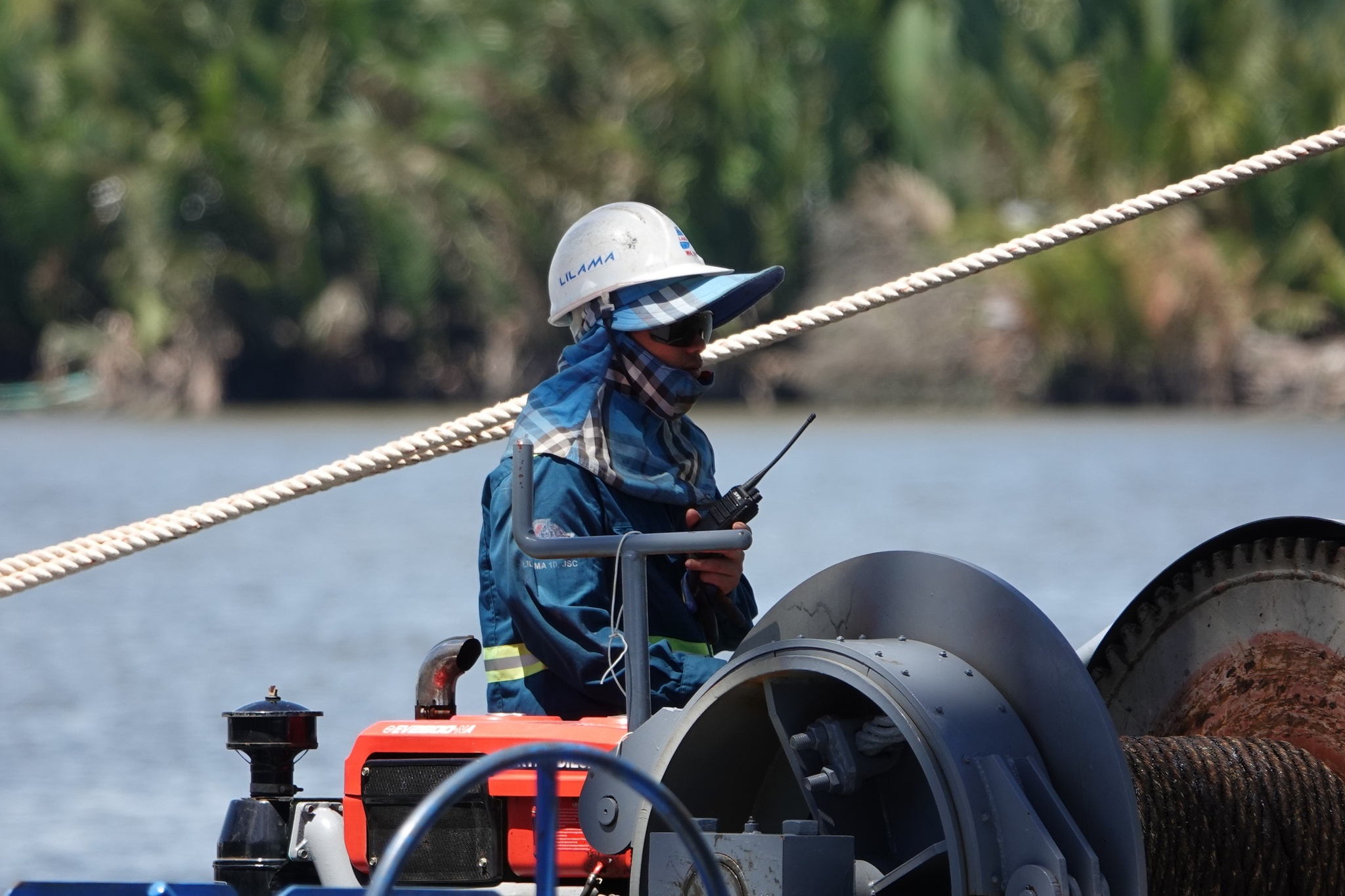 Close-up of the largest 'super' irrigation culvert in Vietnam, installing 11 'giant' valves - photo 21
