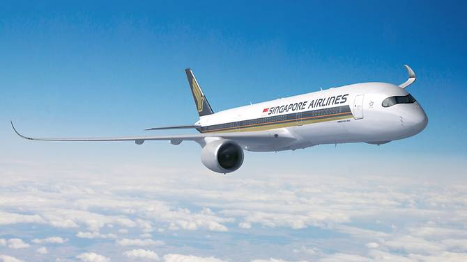 Máy bay của Singapore Airlines /// Ảnh: Singapore Airlines