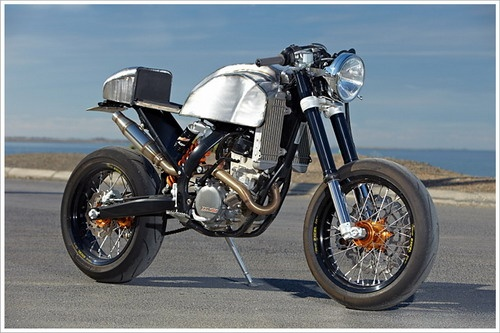 Engineered to Slide's '08 KTM 250 Café