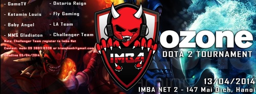 Dota 2: Giải đấu Imba Ozone Team Select Tournament - ảnh 1