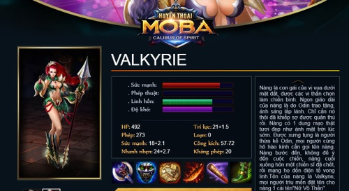 Valkyrie Huyền Thoại MOBA