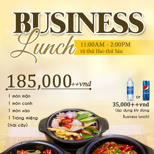 New set menu - business lunch