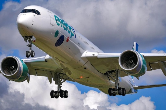 Một chiếc máy bay của hãng Evelop Airlines  /// Facebook/Evelop Airlines