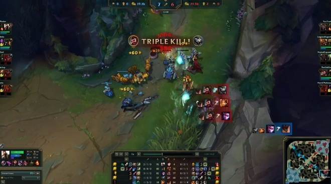 Video LMHT: Graves 1 bắn ăn Triple Kill