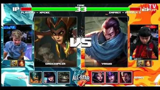 All-Star 2016: Xpeke cầm Cassiopeia solo thắng Yasuo của Impact