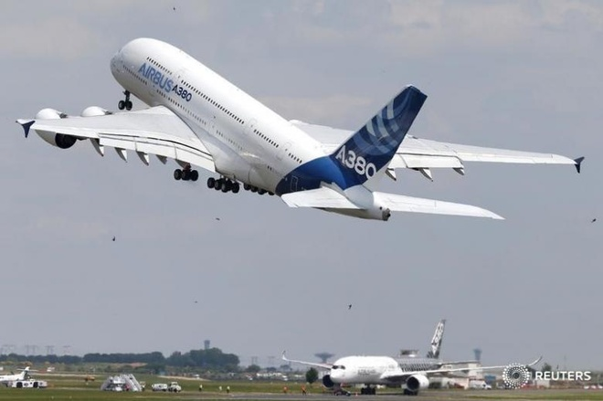 Chiếc Airbus A380  /// Ảnh: Reuters
