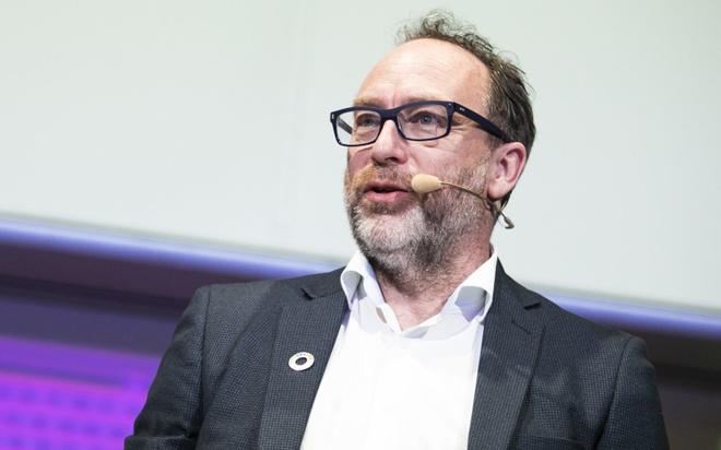 """Jimmy Wales - đồng sáng lập Wikipedia muốn ra tay """"dẹp"""" Facebook  /// Ảnh: Getty Images"""