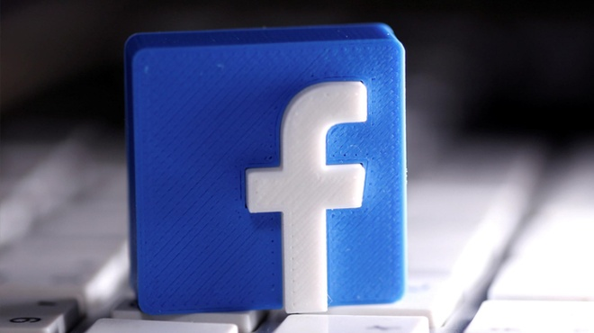 Logo Facebook in 3D  /// Ảnh: Reuters