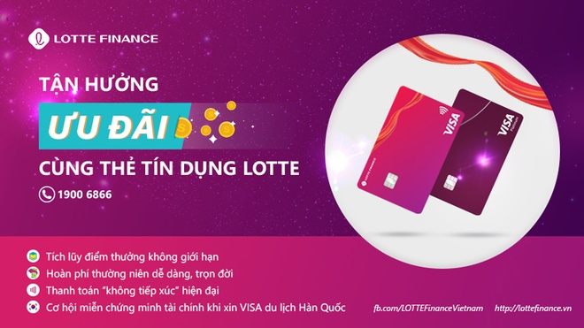 Mẫu thẻ LOTTE FINANCE VISA và LOTTE FINANCE VISA Platinum