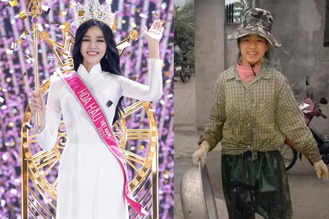 Farming photo of new Miss Vietnam 2020 Do Thi Ha spread by netizens to become the focus of public opinion /// Photo: BTC / FBNV