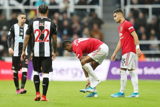 Manchester United trong trận thua Newcastle 0-1 /// Reuters