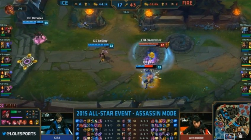 Video LMHT: Westdoor cầm Fizz 1 cân 3 tại All Star 2015