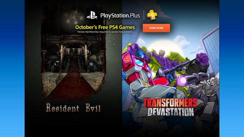 PS Plus tặng game Transformers: Devastation và Resident Evil 0 cho game thủ