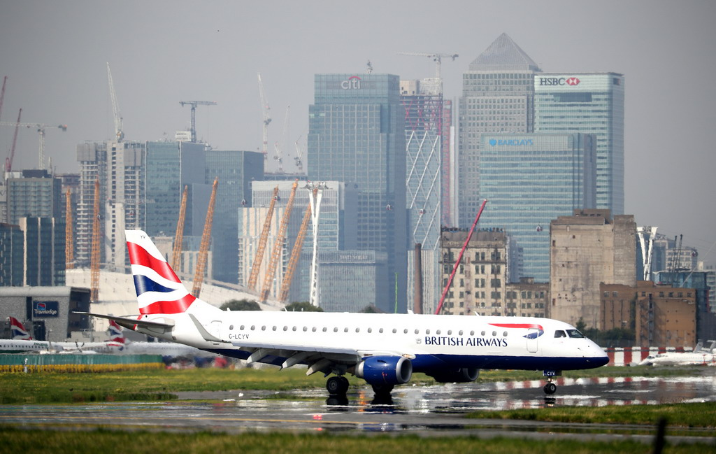 Máy bay của British Airways ở sân bay London City /// Reuters
