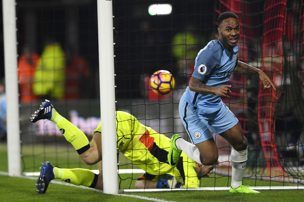 Sterling tỏa sáng trong chiến thắng của Man City /// AFP