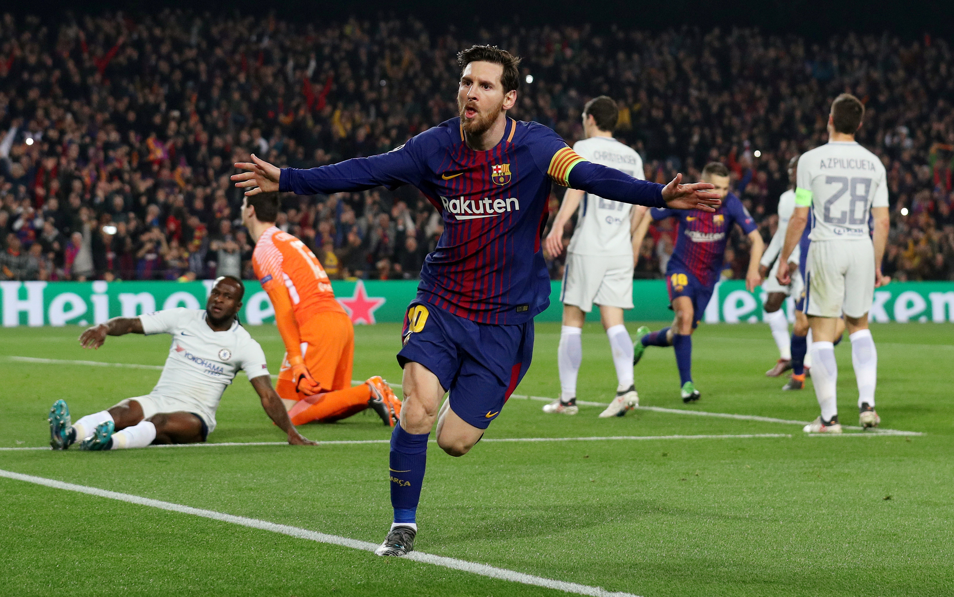 Messi tỏa sáng giúp Barcelona loại Chelsea /// Reuters