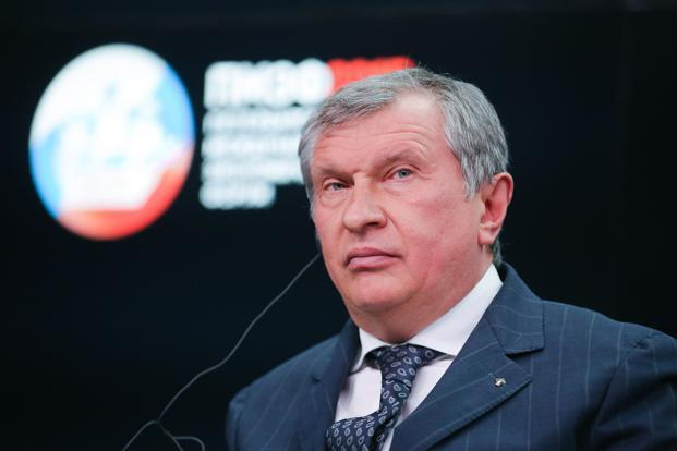 CEO Rosneft Igor Sechin /// Bloomberg