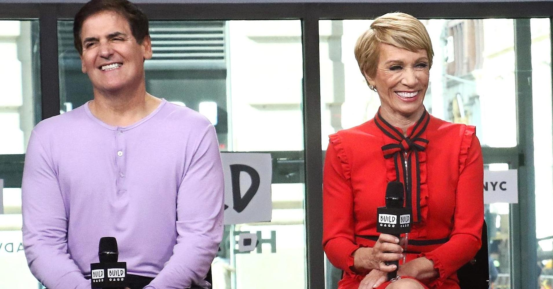 Mark Cuban (trái) và Barbara Corcoran /// Ảnh: AFP/Getty Images