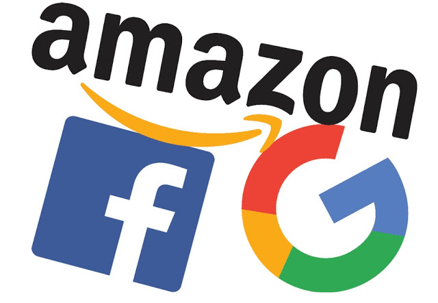 Logo Google, Facebook, Amazon /// Ảnh: Business Review EU