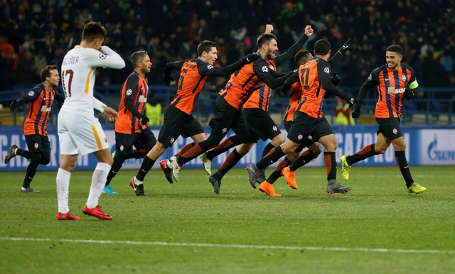 Shakhtar Donetsk một lần nữa chiến thắng AS Roma /// Reuters