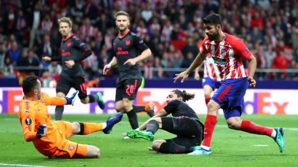 Atletico trong trận thắng Arsenal 1-0 tại Europa League /// AFP