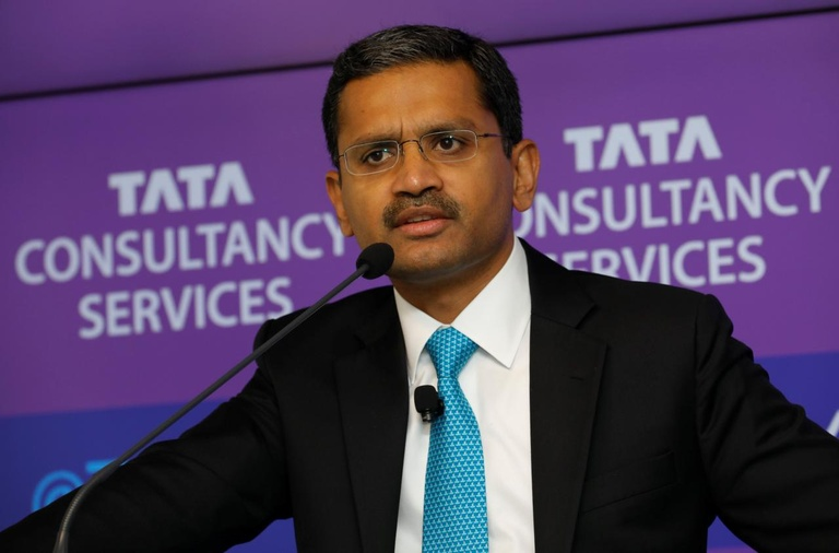 CEO Tata Consultancy Services, ông Rajesh Gopinathan /// Ảnh: Reuters